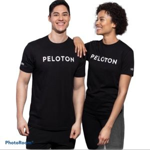 PELOTON Century Club Graphic T-Shirt Black With White Writing and Insignia Small